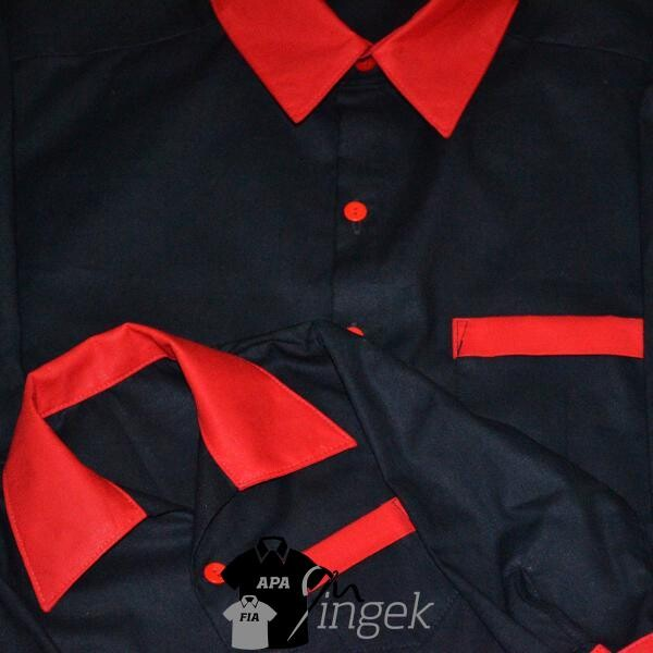 Két egyszínű anyagból - fekete, piros