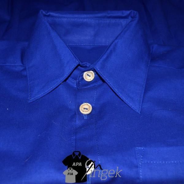 Apa Fia Ing Szett - egyszínű királykék anyagból, férfi ing