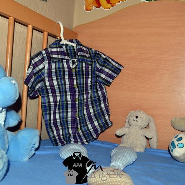 Apa Fia Ing Szett - Gyerek ing, mintás anyagból