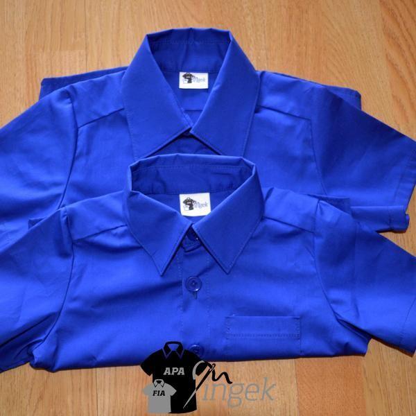 Apa Fia Ing Szett - Királykék anyagból, gyermek ingek