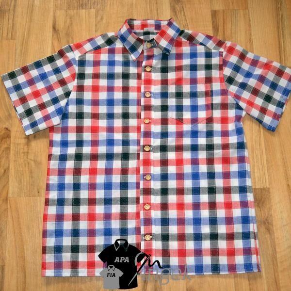 Apa Fia Ing Szett - Kockás anyagból, férfi ing
