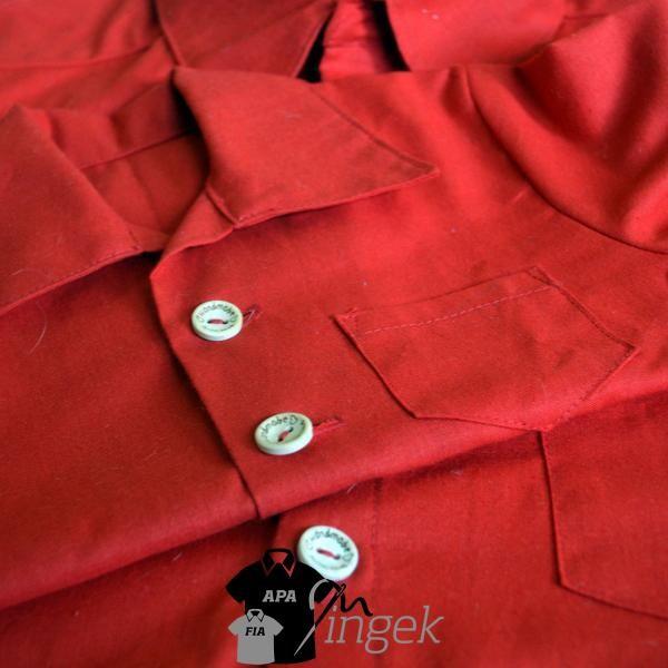 Apa Fia Ing Szett - egyszínű piros anyagból