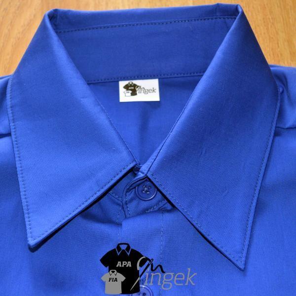 Apa Fia Ing Szett - Királykék anyagból, férfi ing