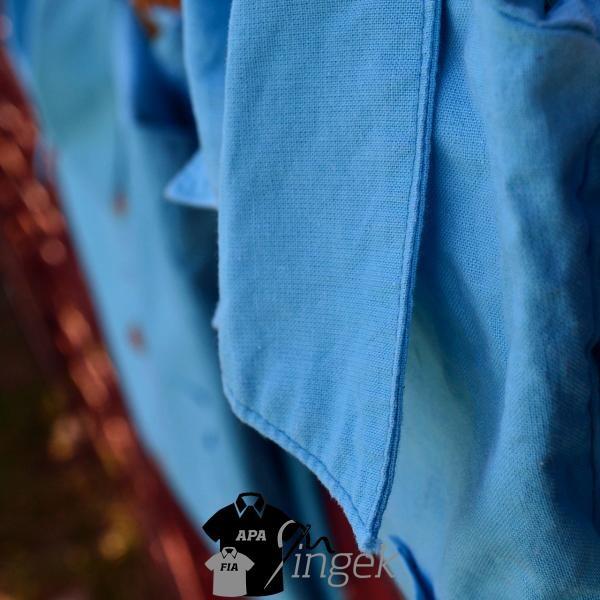 Apa Fia Ing Szett - egyszínű türkizkék anyagból