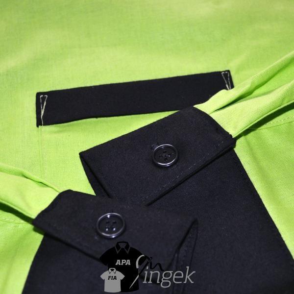 Apa Fia Ing Szett - Almazöld és fekete anyagból, férfi ing