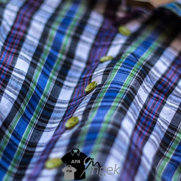 Apa Fia Ing Szett - mintás anyagból, gyerek ing. Készítette: N.Portré Fotóstúdió